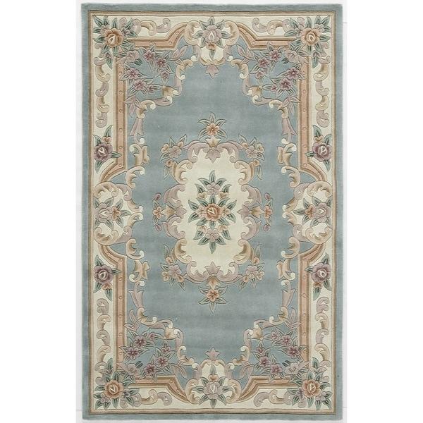 Caleb Hand-Tufted Wool Oriental Area Rug (5' x 8')