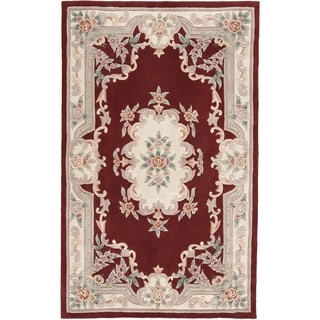 Heritage Red Hand-crafted Wool Area Rug (5' x 8')