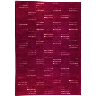 M.A.Trading Hand-knotted Cypress Red New Zealand Wool Rug (3'x 5'4)