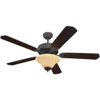 Sea Gull Lighting Deluxe Roman Bronze Finish Ceiling Fan