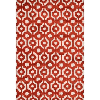 Aaron Rust Lattice Microfiber Woven Rug (2'3 x 3'9)