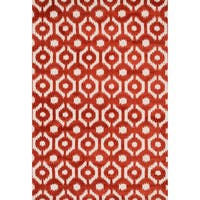 Aaron Rust Lattice Microfiber Woven Rug (7'6 x 9'6)