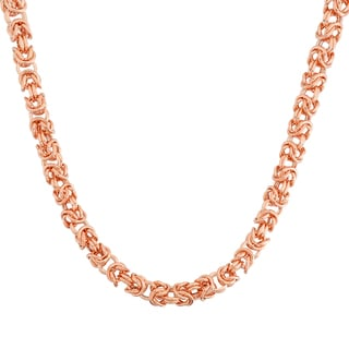 Gioelli 14k Rose Gold Petite Byzantine Necklace
