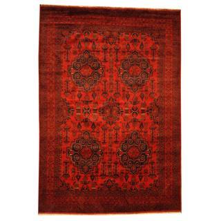 Handmade Khal Mohammadi Wool Rug (Afghanistan) - 6'10 x 9'10
