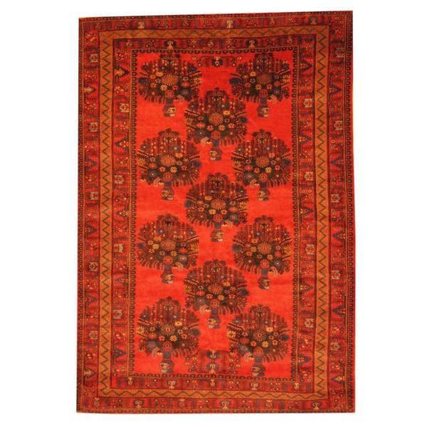 Handmade One-of-a-Kind Balouchi Wool Rug (Afghanistan) - 6'9 x 9'7