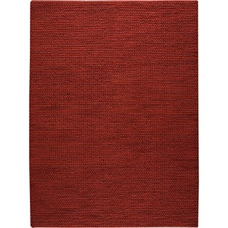 M.A.Trading Hand-woven Ladhak Red New Zealand Wool Rug (3'x 5'4) (India)