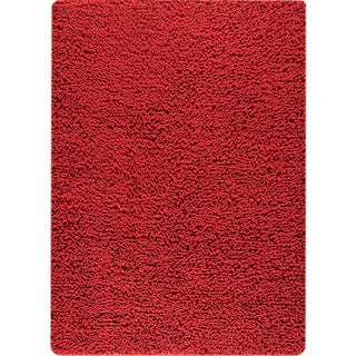 M.A.Trading Hand-woven Square Red New Zealand Wool Rug (3'x 5'4)