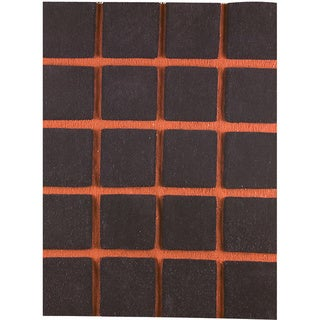 M.A.Trading Hand-knotted Manhattan Brown/ Orange New Zealand Wool Rug (4'6x6'6)