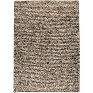 M.A.Trading Hand-knotted Tokyo Grey/ Beige New Zealand Wool Rug (4'6x 6'6)