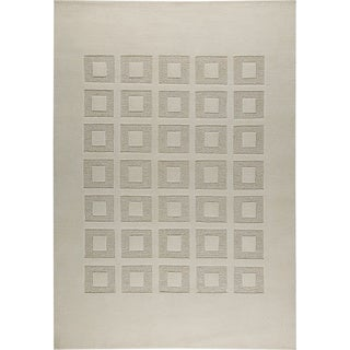 M.A.Trading Hand-knotted Marmara White/ M1 New Zealand Wool Rug (3'x 5'4)