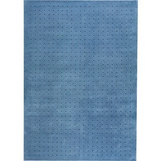 M.A.Trading Hand-knotted Snow Blue New Zealand Wool Rug (3'x 5'4)