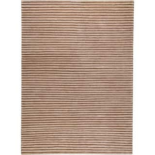 M.A.Trading Hand-woven Goa Beige New Zealand Wool Rug (3'x 5'4)