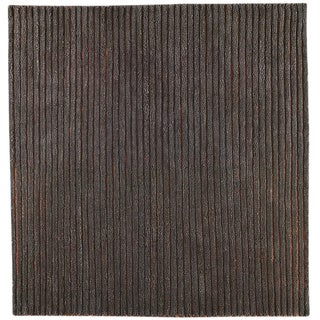 M.A.Trading Hand-woven Goa Grey New Zealand Wool Rug (3'x 5'4)