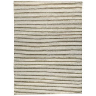M.A.Trading Hand-woven Goa White New Zealand Wool Rug (3'x 5'4) (India)