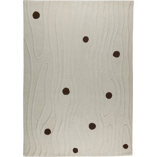 M.A.Trading Hand-tufted Izmir White New Zealand Wool Rug (4'6x 6'6)