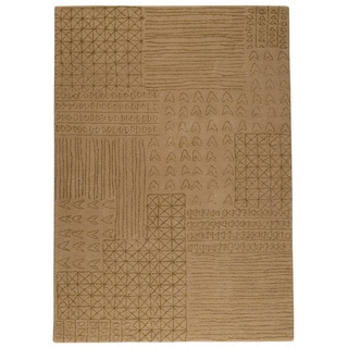 M.A.Trading Hand-tufted Tripoli Beige New Zealand Wool Rug (4'6x 6'6)
