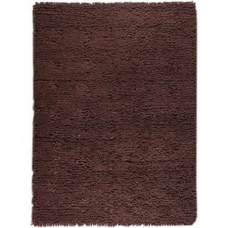 M.A.Trading Hand-woven Berber Brown New Zealand Wool Rug (4'6x 6'6)