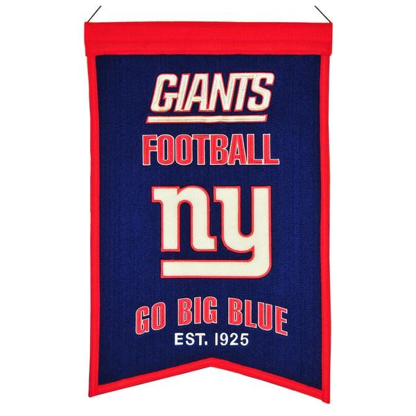 Winning Streak New York Giants Franchise Banner