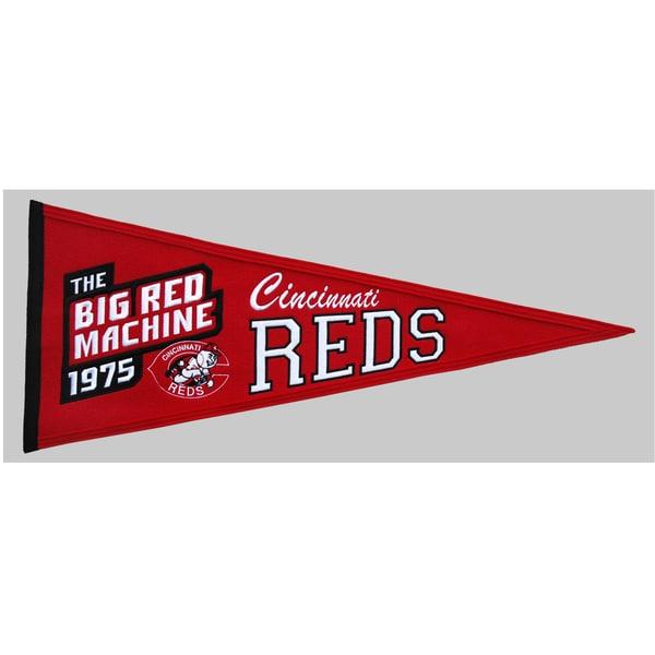 Winning Streak MLB Cincinnati Reds Cooperstown Wool Pennant
