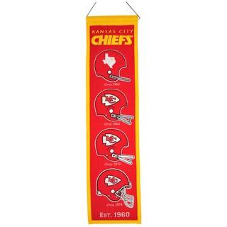 Winning Streak NFL Kansas City Chiefs Wool Heritage Banner