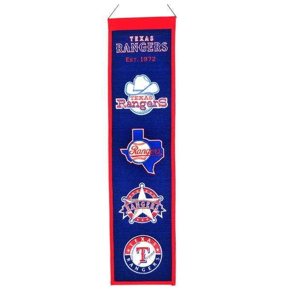 Winning Streak MLB Texas Rangers Wool Heritage Banner