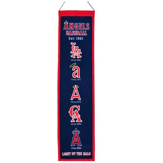 Winning Streak MLB Los Angeles Angels Wool Heritage Banner