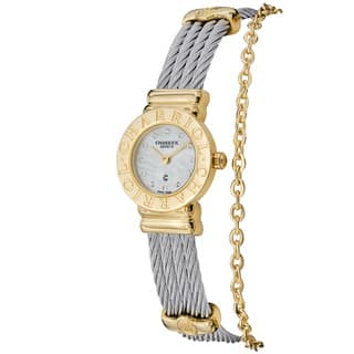 Charriol Women's ST20CY1.520.RO004 'St Tropez' Mother of Pearl Dial Stainless Steel Twon Tone Watch|https://ak1.ostkcdn.com/images/products/9639529/P16823890.jpg?impolicy=medium