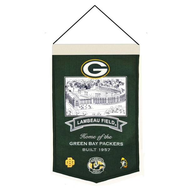 Winning Streak NFL Green Bay Packers Wool Stadium Banner
