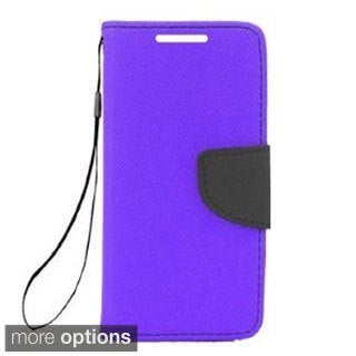 INSTEN Stand Leather Folio Book-Style Flip Phone Case Cover For Samsung Galaxy Avant
