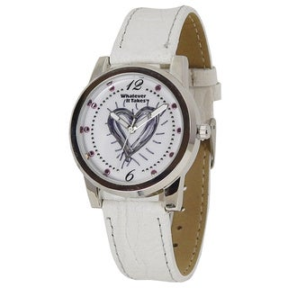 Women's Whatever It Takes Kim Kardashian White Strap Heart Watch