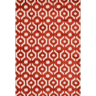 Aaron Rust Lattice Microfiber Woven Rug (5'0 x 7'6)