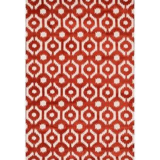 Aaron Rust Lattice Microfiber Woven Rug (9'3 x 13'0)