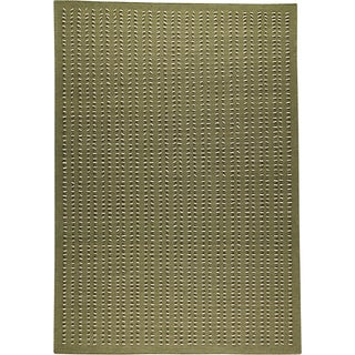 M.A.Trading Hand-woven Palmdale Green New Zealand Wool Rug (4'6x 6'6)