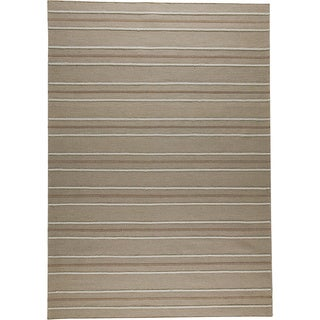 M.A.Trading Hand-woven Savannah Beige New Zealand Wool Rug (4'6x 6'6)