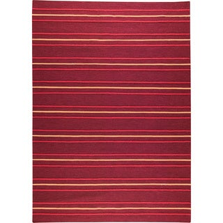 M.A.Trading Hand-woven Savannah Red New Zealand Wool Rug (4'6x 6'6)