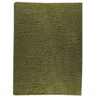 M.A.Trading Hand-woven Shanghai Mix Green New Zealand Wool Rug (4'6x 6'6)