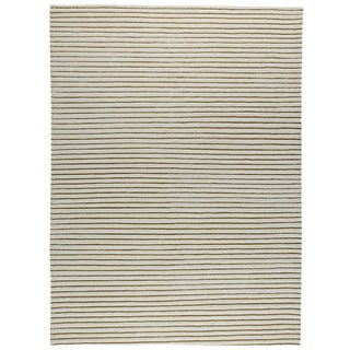 M.A.Trading Hand-woven Goa White New Zealand Wool Rug (4'6x 6'6)