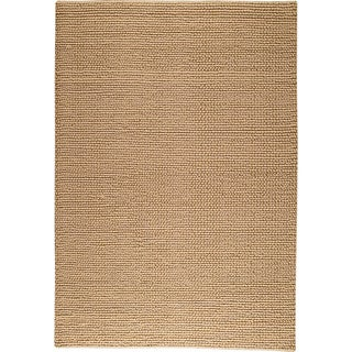 M.A.Trading Hand-woven Ladhak Beige New Zealand Wool Rug (4'6x 6'6)
