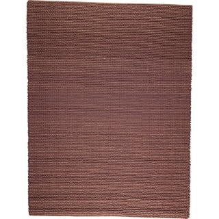 M.A.Trading Hand-woven Ladhak Brown New Zealand Wool Rug (4'6x 6'6)