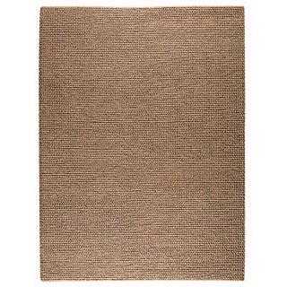 M.A.Trading Hand-woven Ladhak Dark Beige New Zealand Wool Rug (4'6x 6'6)