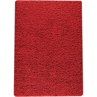 M.A.Trading Hand-woven Square Red New Zealand Wool Rug (4'6x 6'6)