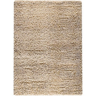 M.A.Trading Hand-woven Square White New Zealand Wool Rug (4'6x 6'6)