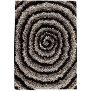 M.A.Trading Hand-tufted Landscape Grey/ Black Area Rug (5'2 x 7'6)