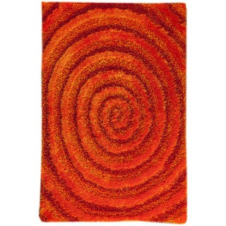 M.A.Trading Hand-tufted Landscape Orange Area Rug (5'2 x 7'6)