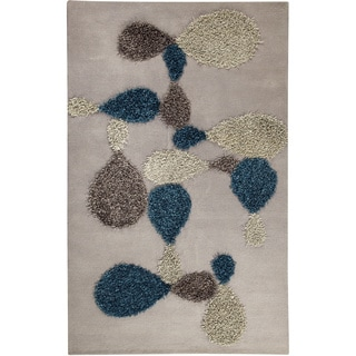 M.A.Trading Hand-tufted Portola Grey/ Blue Wool Rug (5'2 x 7'6)