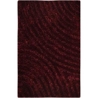 M.A.Trading Hand-tufted Tweed Mauve Area Rug (5'2 x 7'6)