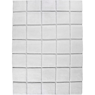 M.A.Trading Hand-knotted Manhattan White New Zealand Wool Rug (5'6 x 7'10)