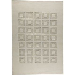 M.A.Trading Hand-knotted Marmara White New Zealand Wool Rug (5'6 x 7'10)