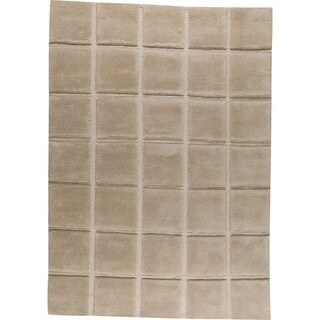 M.A.Trading Hand-knotted Manhattan Beige New Zealand Wool Rug (5'6 x 7'10)