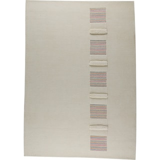 M.A.Trading Hand-knotted Salzburg White/ Multi New Zealand Wool Rug (5'6 x 7'10)